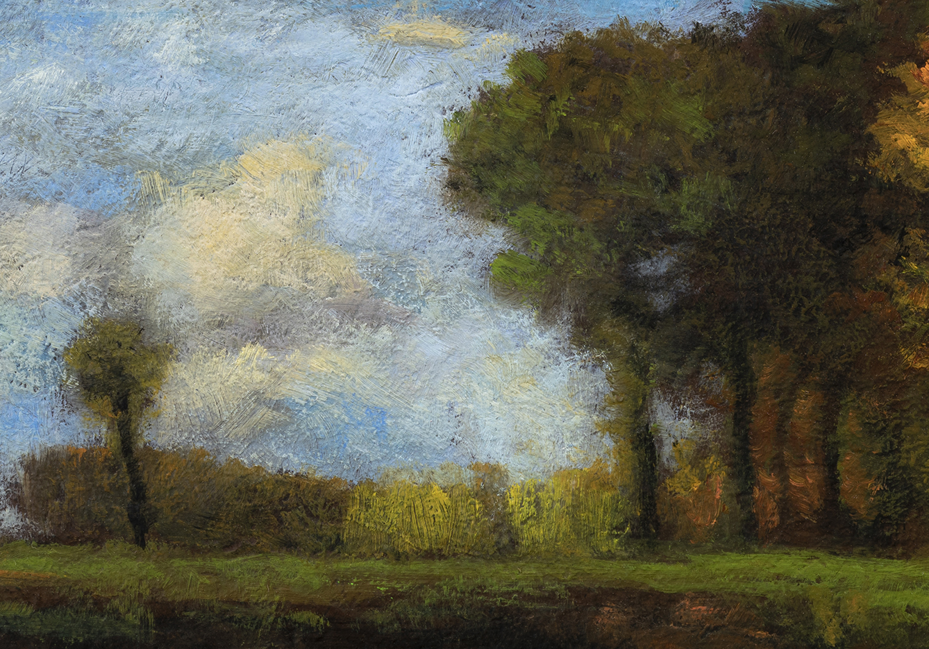 Study after: George Inness Spirit of Autumn by M Francis McCarthy - 7x10 (Detail)