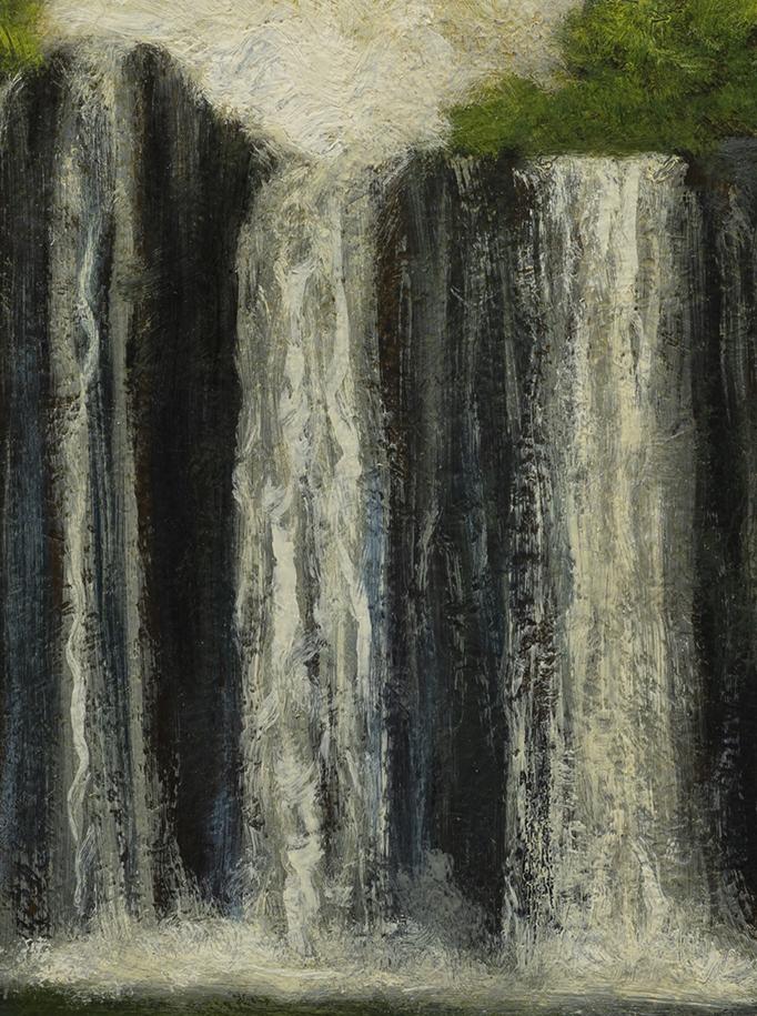 Near the Falls by M Francis McCarthy - 6x8 (Detail)