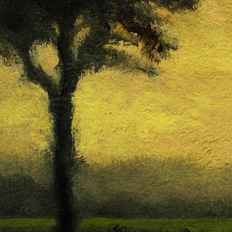 Twilight Stream by M Francis McCarthy - 5x5 (Detail)