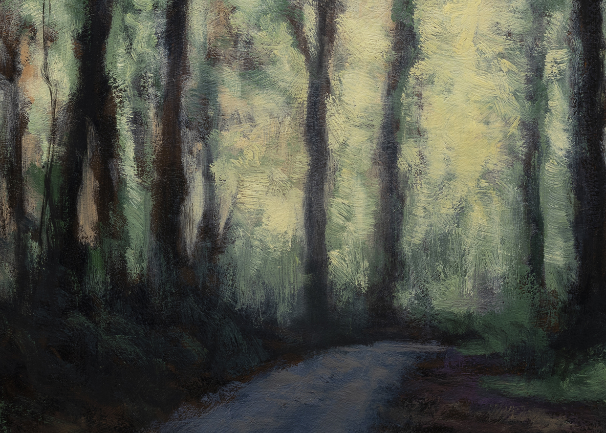 Road through the Woods by M Francis McCarthy - 5x7 (Detail)