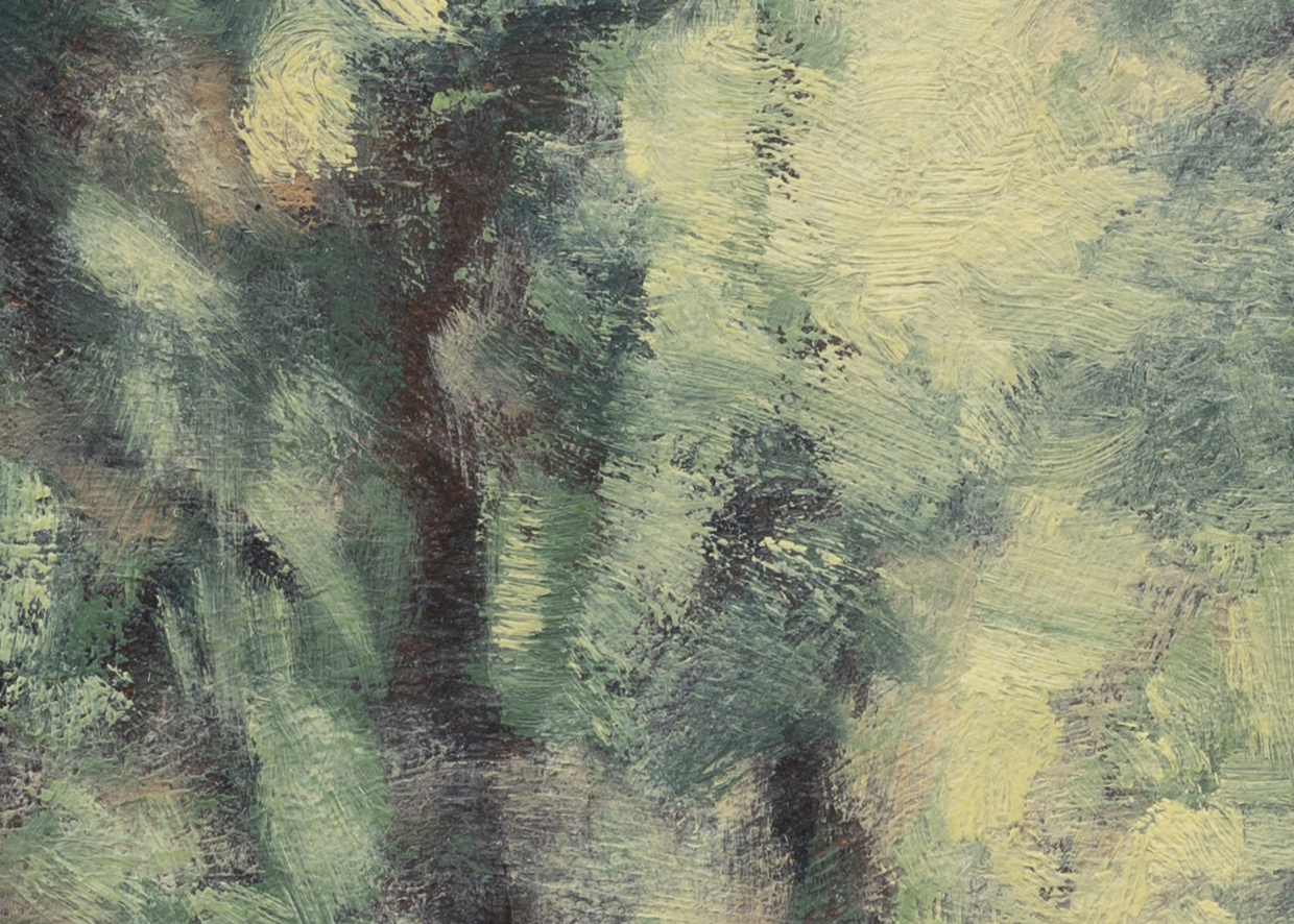 Road through the Woods by M Francis McCarthy - 5x7 (Detail 2)