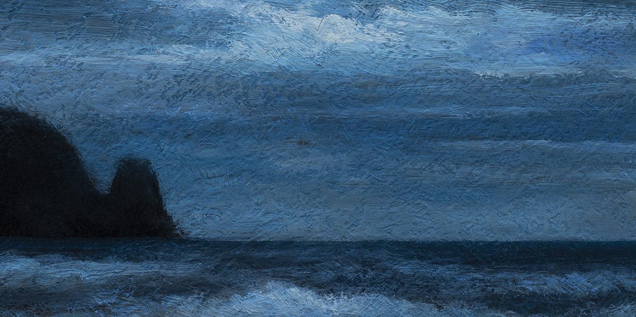 Sea Nocturne by M Francis McCarthy - 5x10 (Detail)