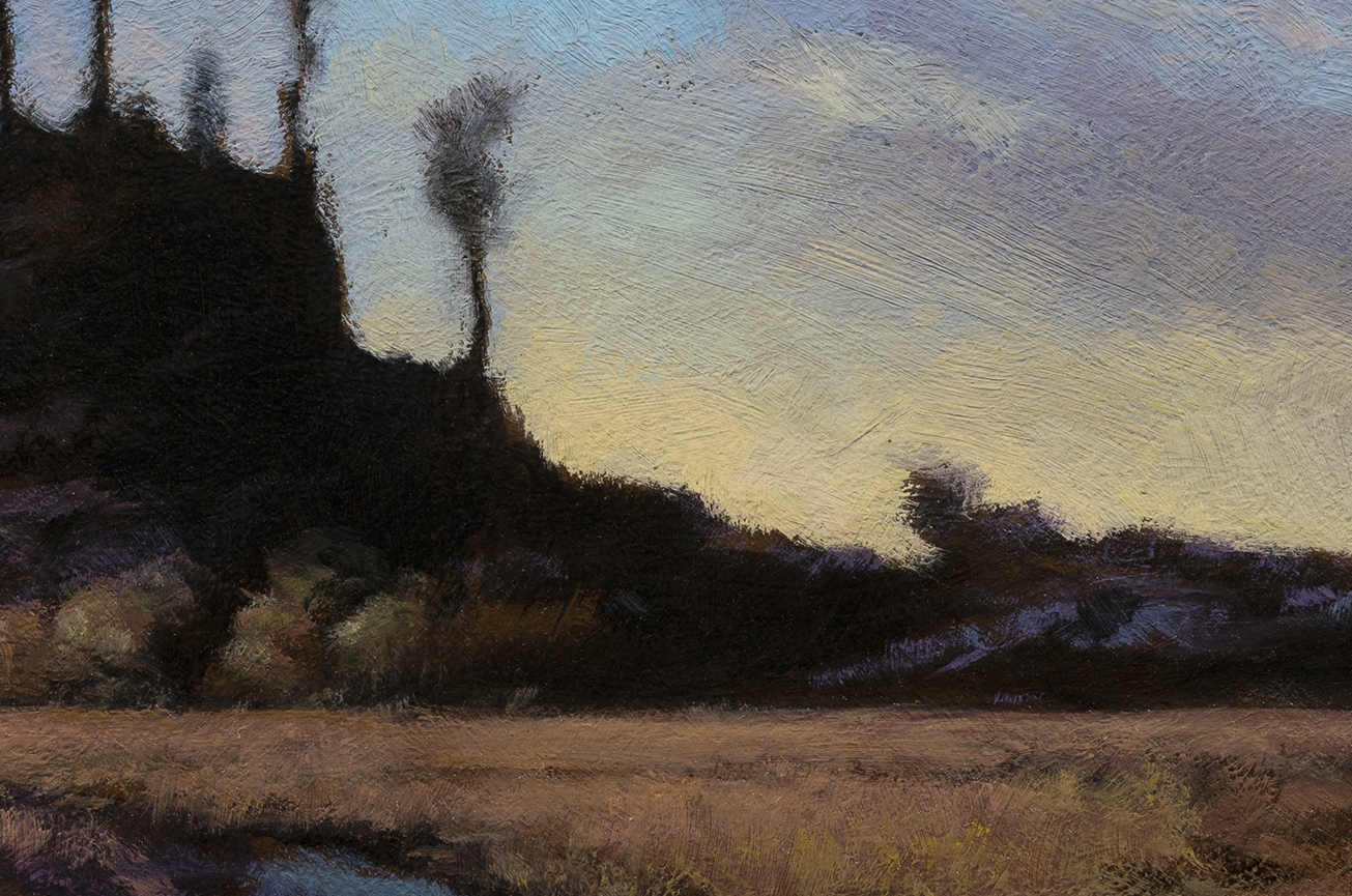 Summer Landscape by M Francis McCarthy - 8x12 (Detail)
