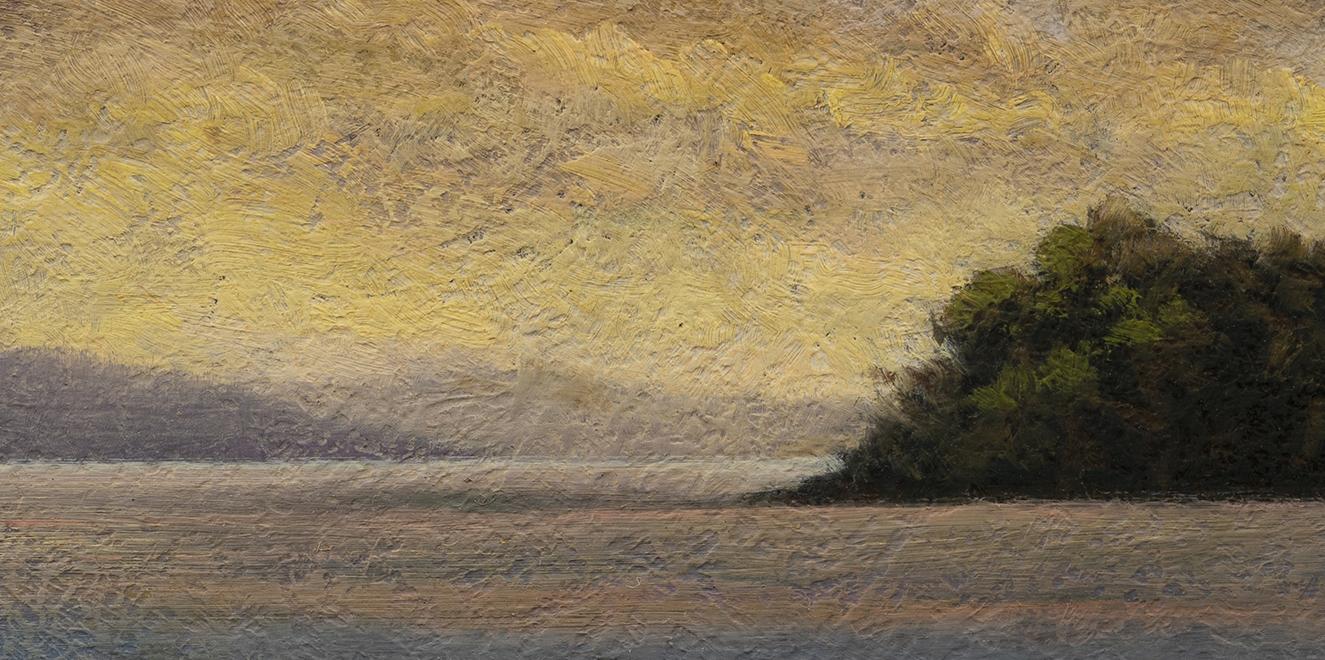 Twilight Harbor by M Francis McCarthy - 5x10 (Detail)