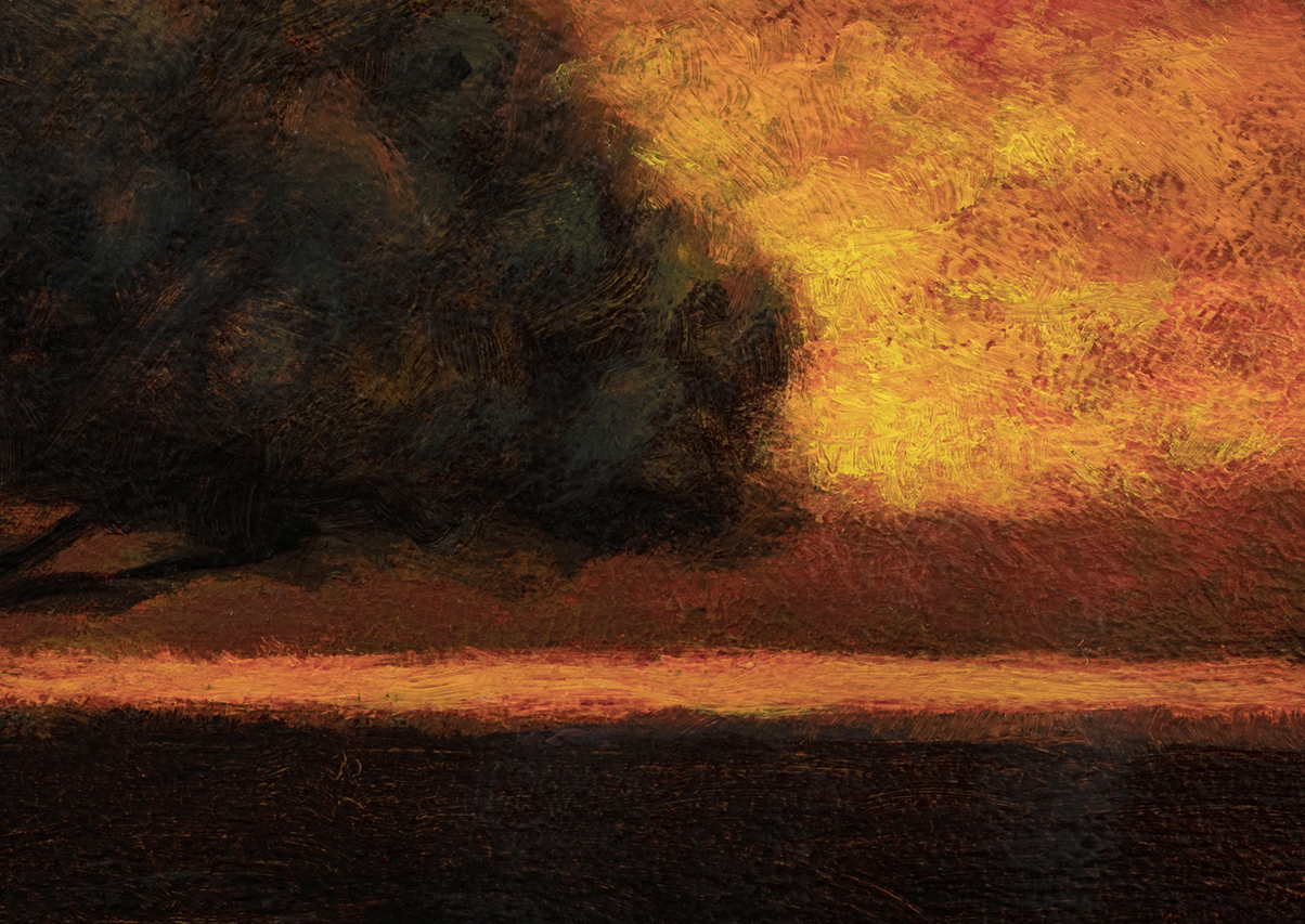 'Clearing up' by M Francis McCarthy - 5x7 (Detail)