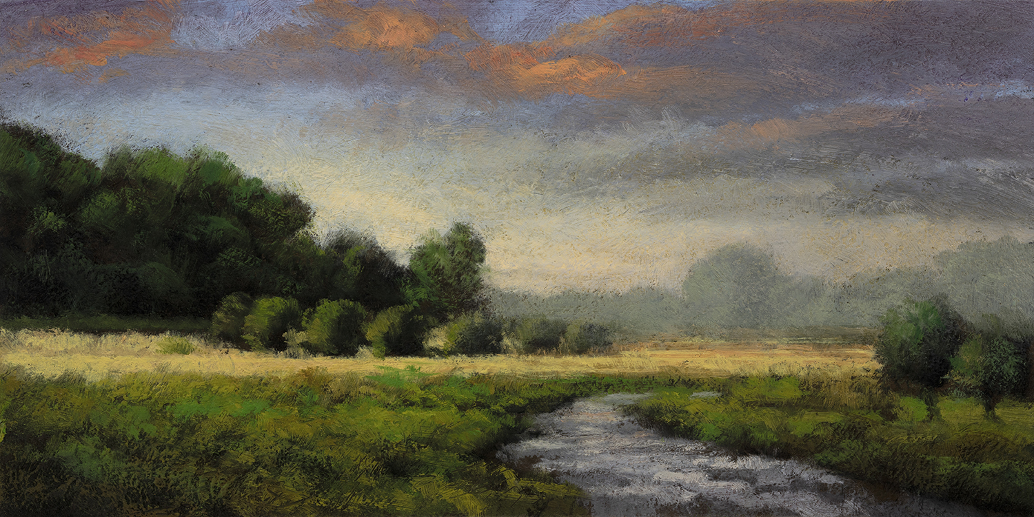 Summer Copse by M Francis McCarthy - 5x10 Oil on Wood Panel