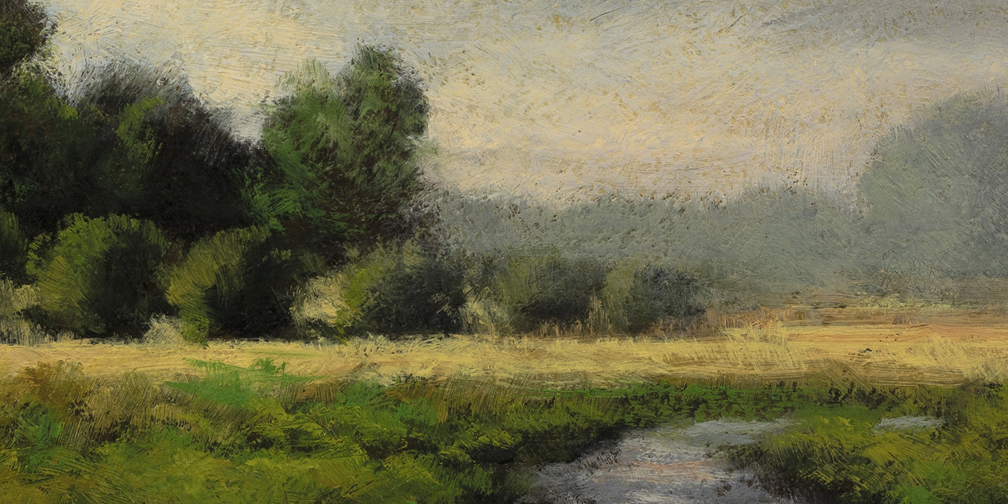 Summer Copse by M Francis McCarthy - 5x10 (Detail)