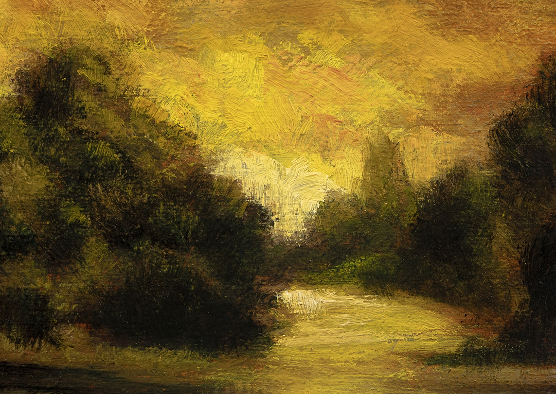 Riverside Reflections by M Francis McCarthy - 5x7 (Detail)