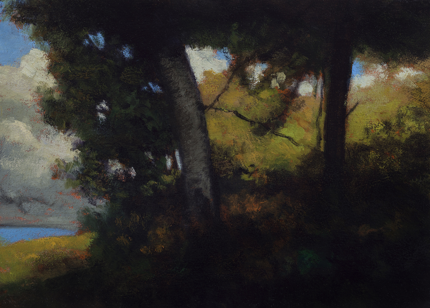 Study after: Robert Minor - Landscape by M Francis McCarthy - 5x7 Oil on Wood Panel