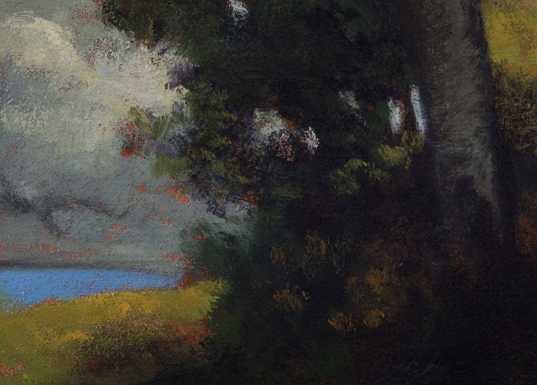 Study after: Robert Minor - Landscape by M Francis McCarthy - 5x7 (Detail)