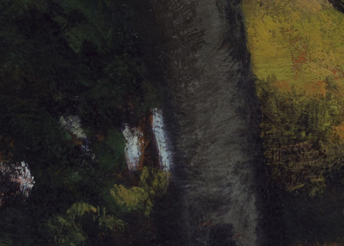 Study after: Robert Minor - Landscape by M Francis McCarthy - 5x7 (Detail 2)