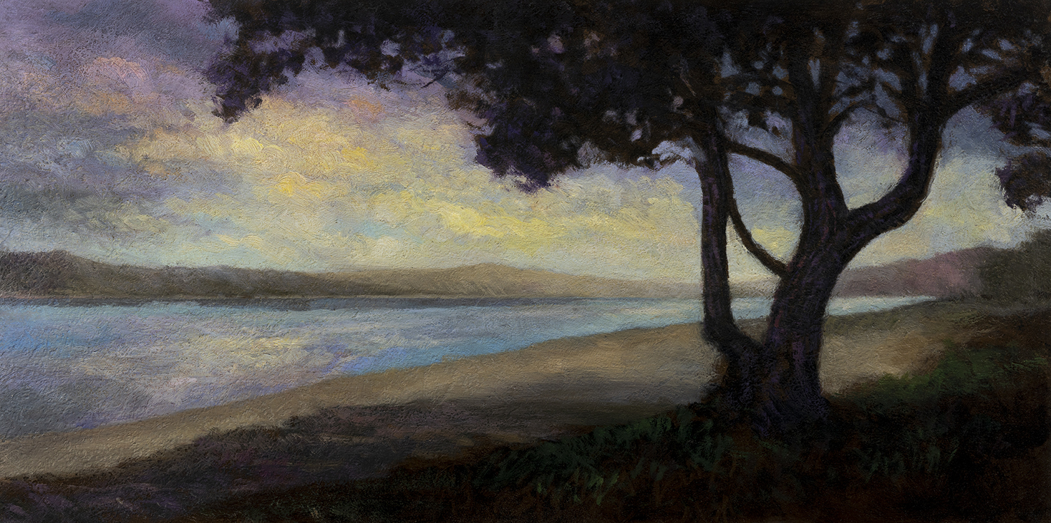 Morning Bay by M Francis McCarthy - 7x14 Oil on Wood Panel