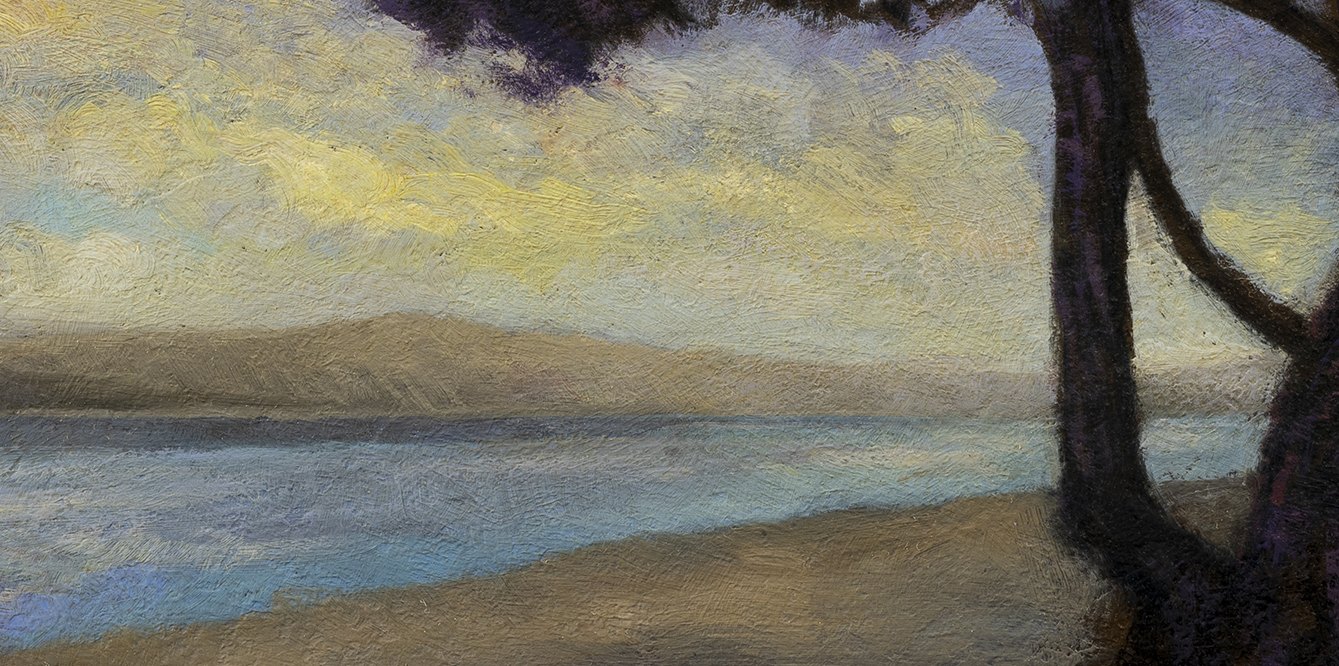 Morning Bay by M Francis McCarthy - 7x14 (Detail)