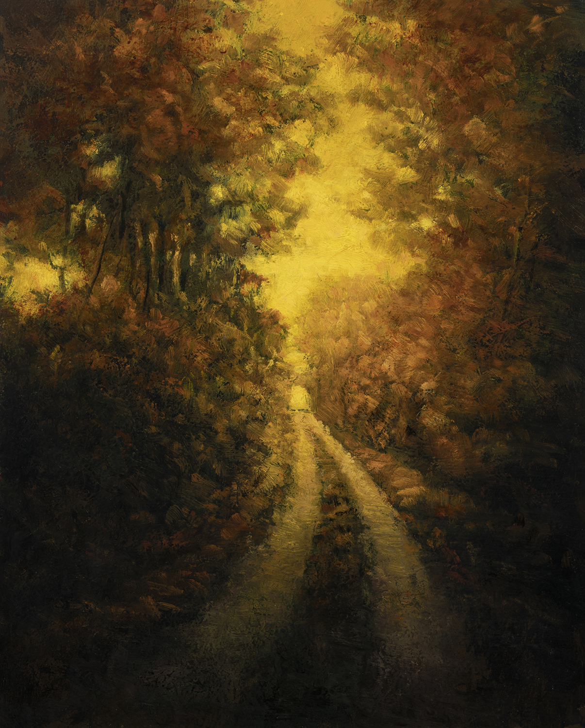 Golden Path by M Francis McCarthy - 8x10 Oil on Wood Panel