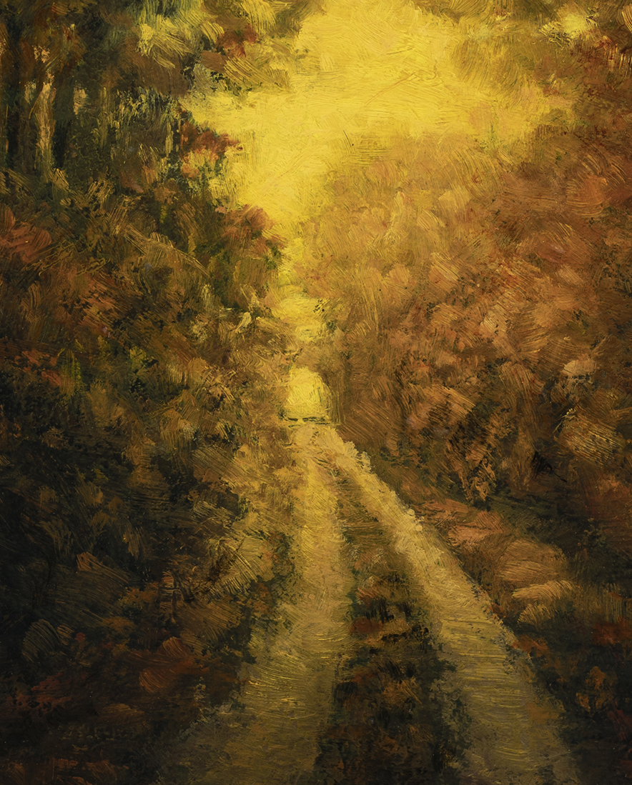 Golden Path by M Francis McCarthy - 8x10 (Detail)