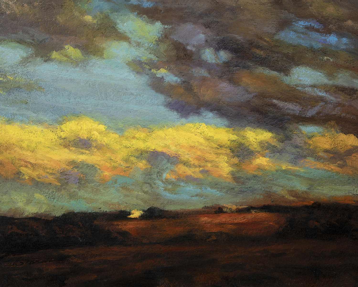 Study after: Charles Harold Davis Clouds after Storm by M Francis McCarthy - 8x10 Oil on Wood Panel