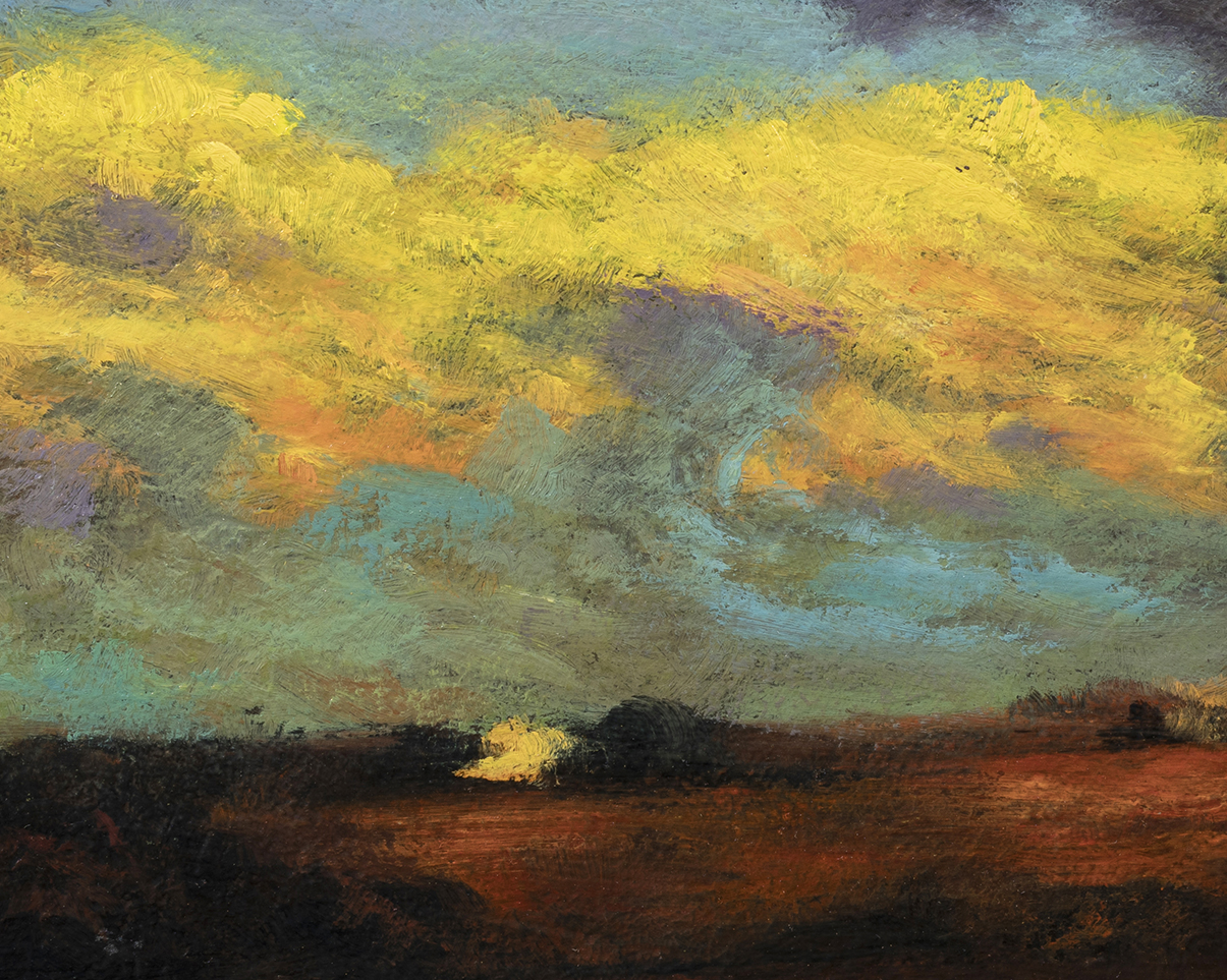 Study after: Charles Harold Davis Clouds after Storm by M Francis McCarthy - 8x10 (Detail)