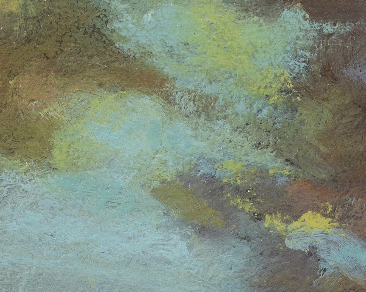 Study after: Charles Harold Davis Clouds after Storm by M Francis McCarthy - 8x10 (Detail 2)