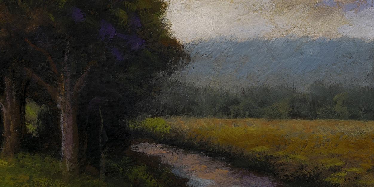 Stream through the Field by M Francis McCarthy - 5x10 (Detail)