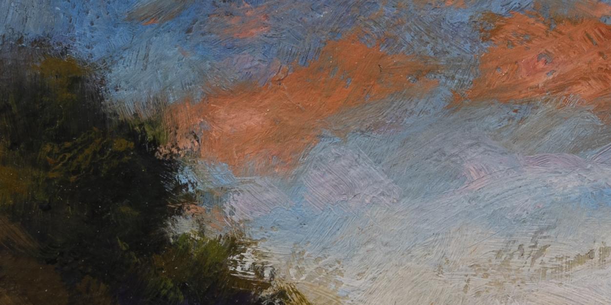 Stream through the Field by M Francis McCarthy - 5x10 (Detail 2)