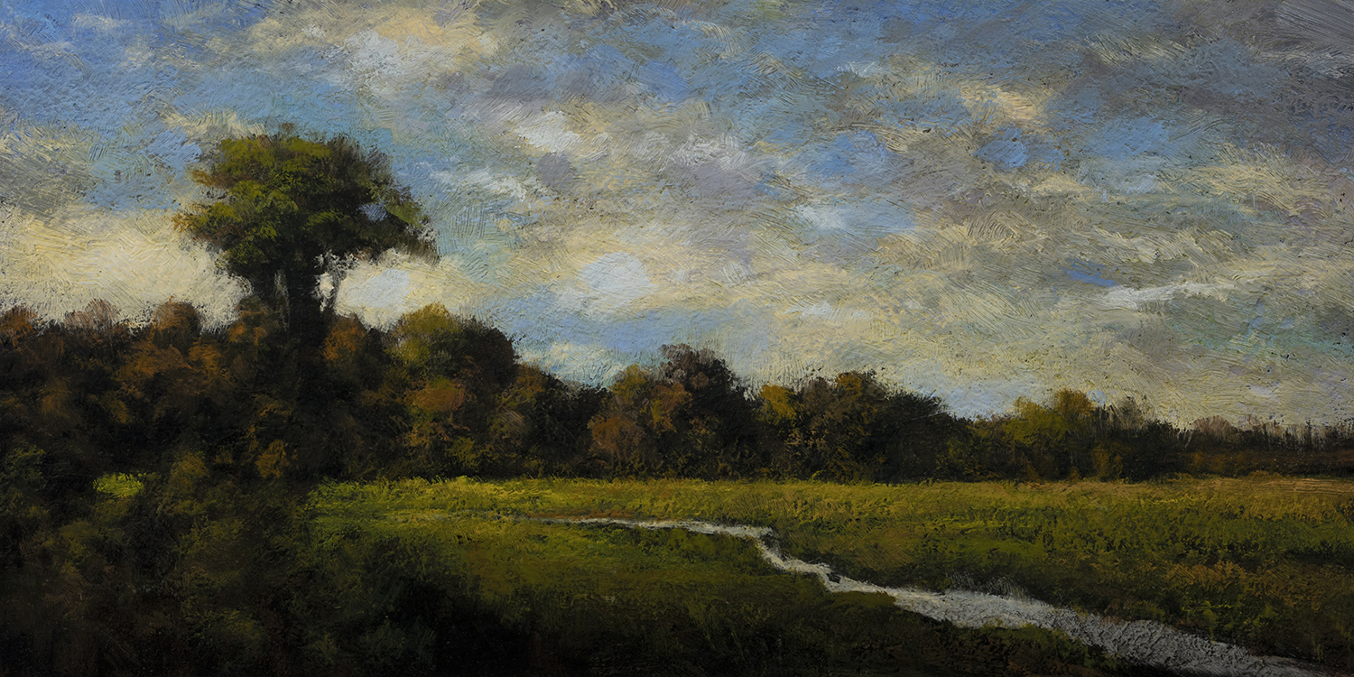 Afternoon Stream by M Francis McCarthy - 5x10 Oil on Wood Panel