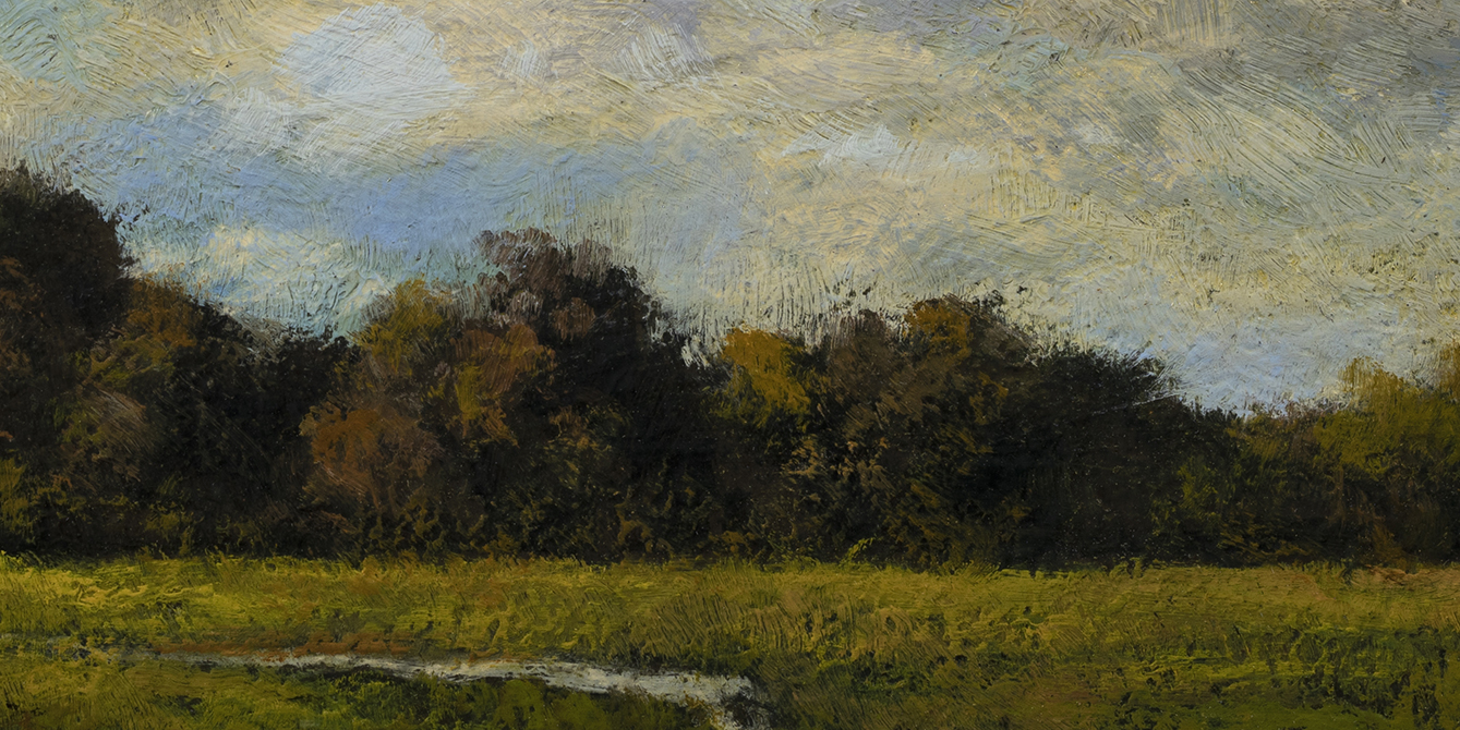 Afternoon Stream by M Francis McCarthy - 5x10 (Detail)
