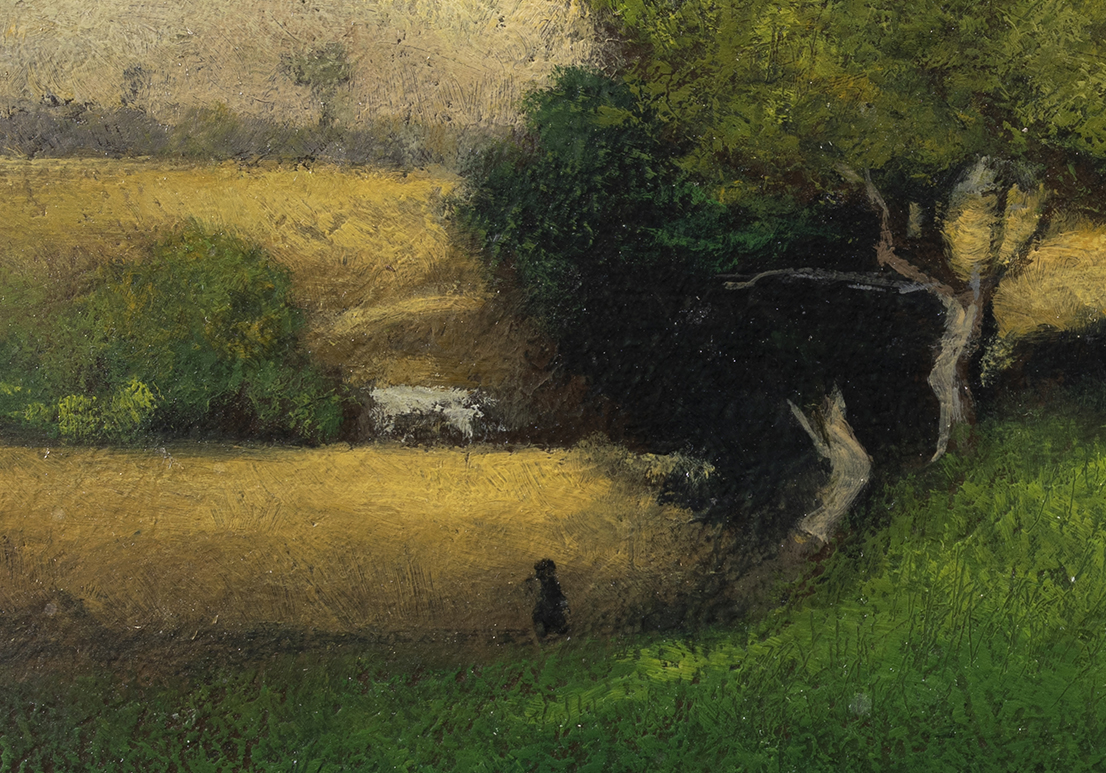Study after George Inness The Storm by M Francis McCarthy - 7x10 (Detail)