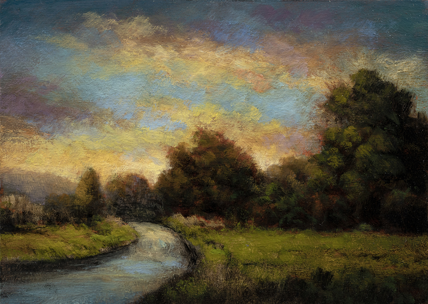 Northland Road by M Francis McCarthy - 5x7 Oil on Wood Panel