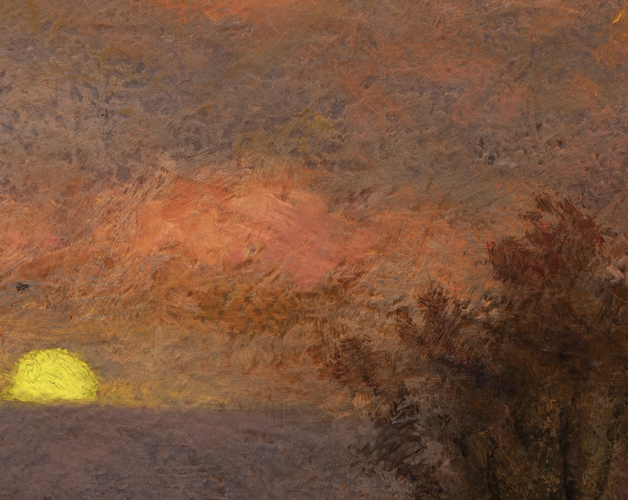 Study after: Edward Wilkins Waite An Autumn Moonrise by M Francis McCarthy - 8x10 (Detail 2)
