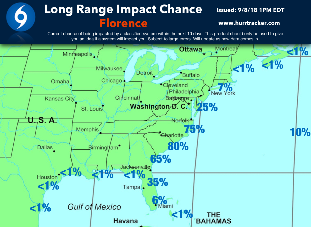 Our latest impact chance graphic.