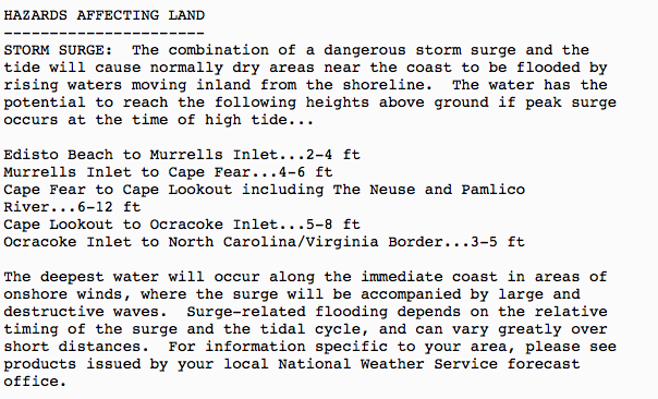 Latest Storm Surge Forecast