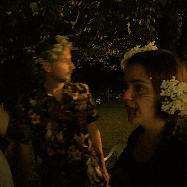 It was a Midsummer Night's Dream last night of #chocolate #camp! #summersolstice #funconf2017 ##flowercrown