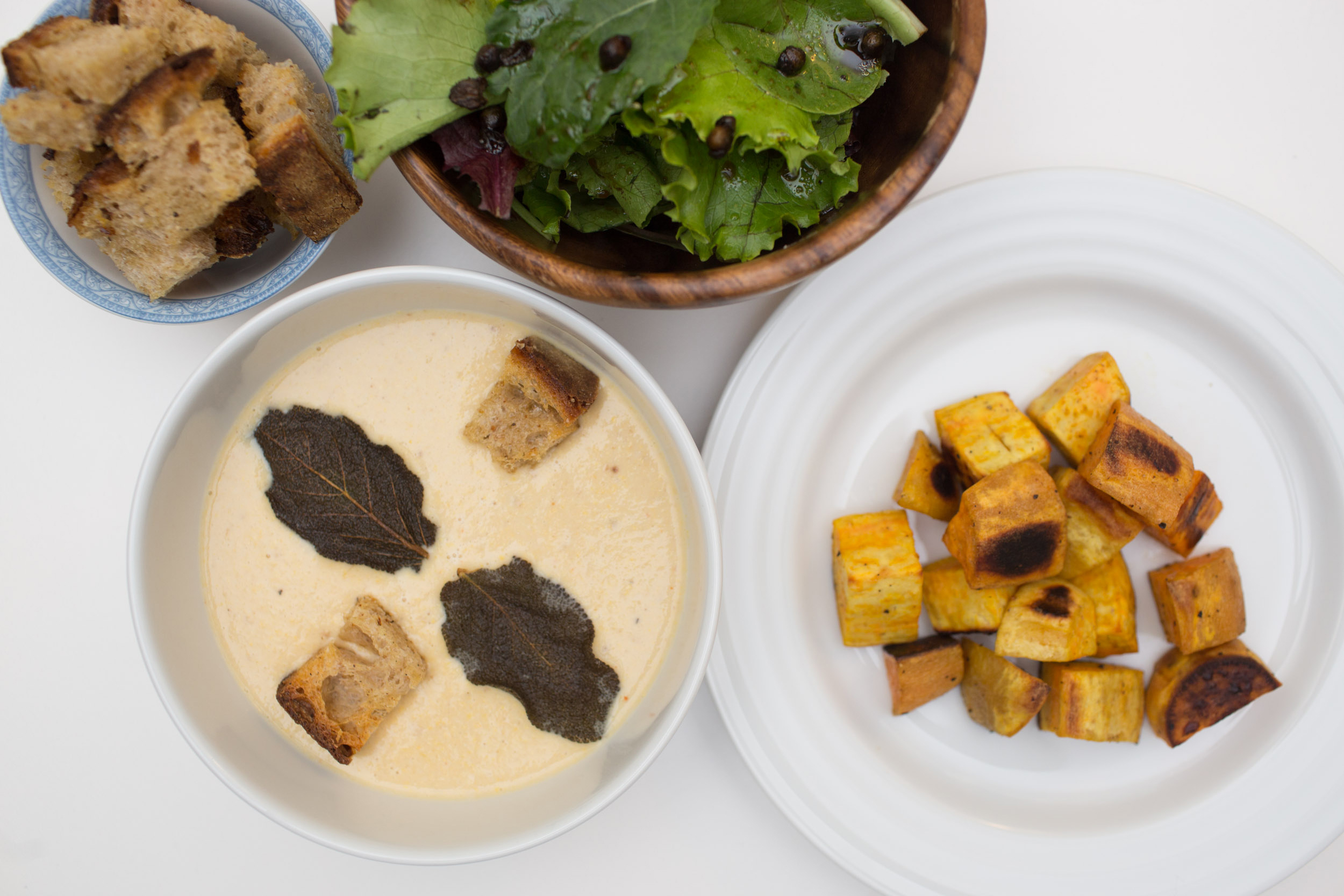 Corn Soup with Sage Croutons