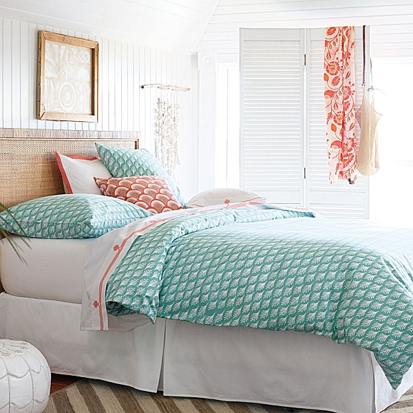Bright bedding for a lazy afternoon -- Captiva Duvet Cover & Sham $180-$280