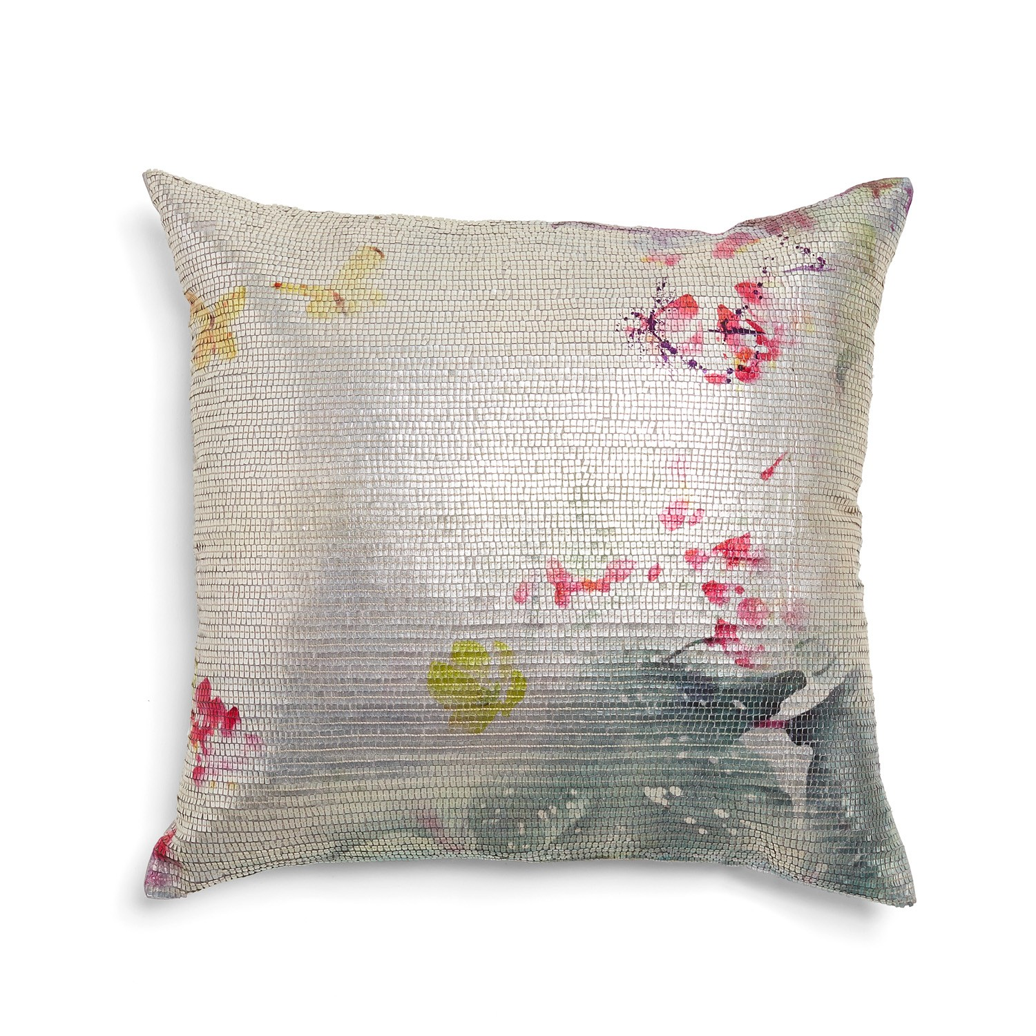 Add a bit of shimmery whimsy to your home! -- Aviva Stanoff Pink Lulu Mercury Pillow $250