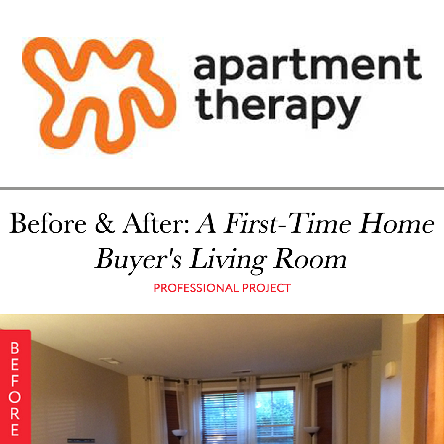 Apartment Therapy: Before & After
