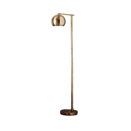 Modern Globe Floor Lamp Brassy Gold