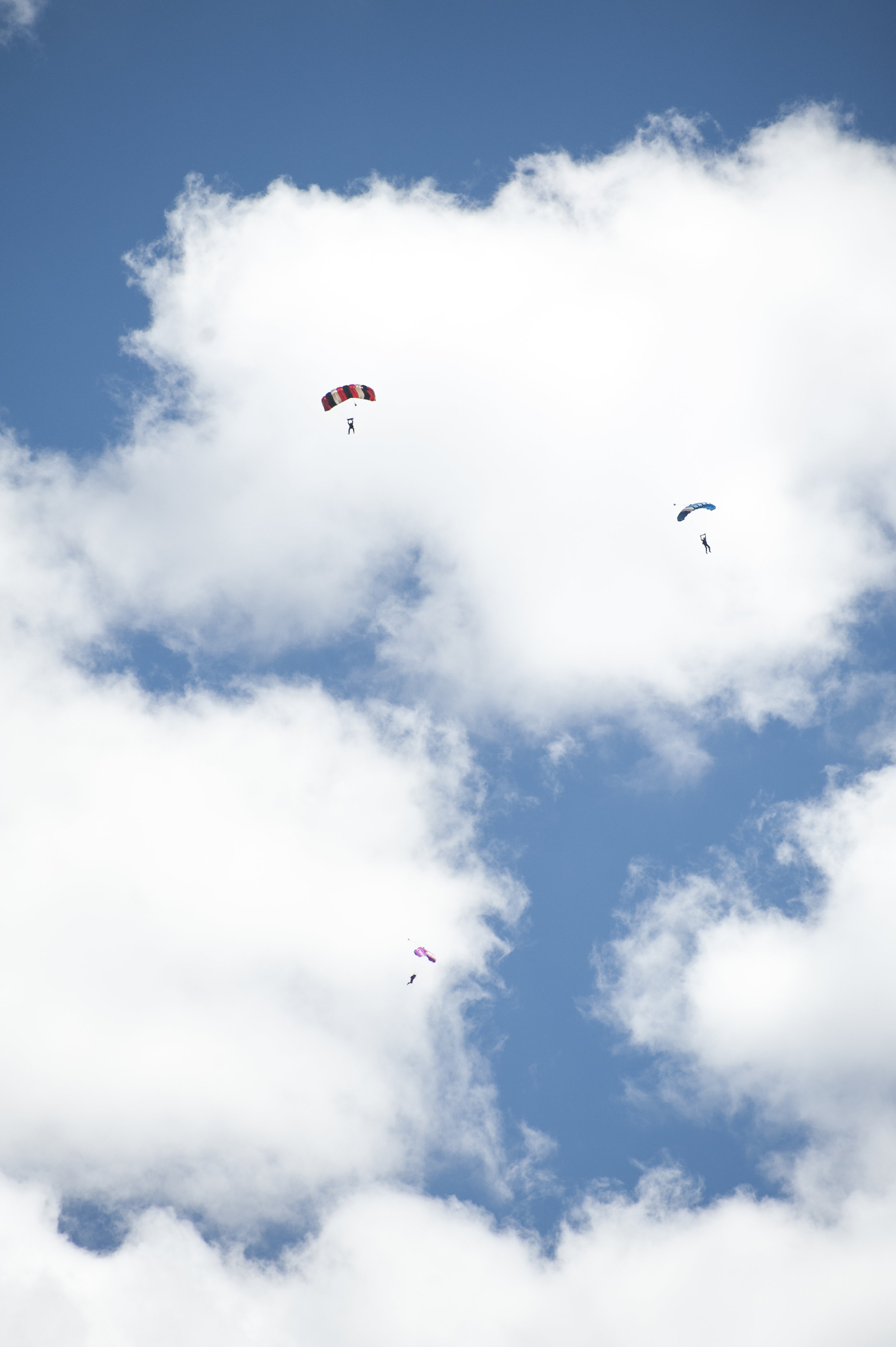 About 6,500 people watched the parachute demonstrations at the Big Bear City Airport air fair Aug. 26, 2017.
