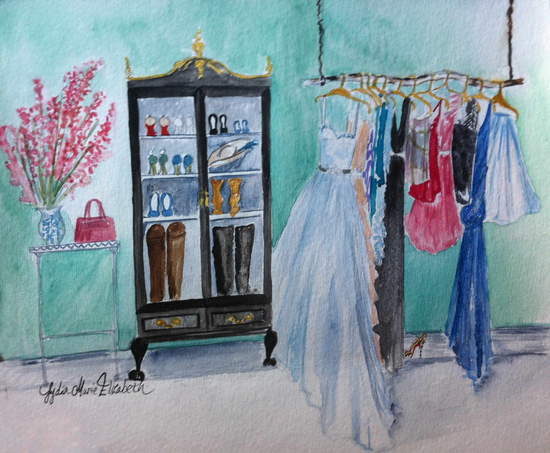 lydia marie elizabeth dream closet greenwich stamford nyc interior design illustration watercolor painting.JPG
