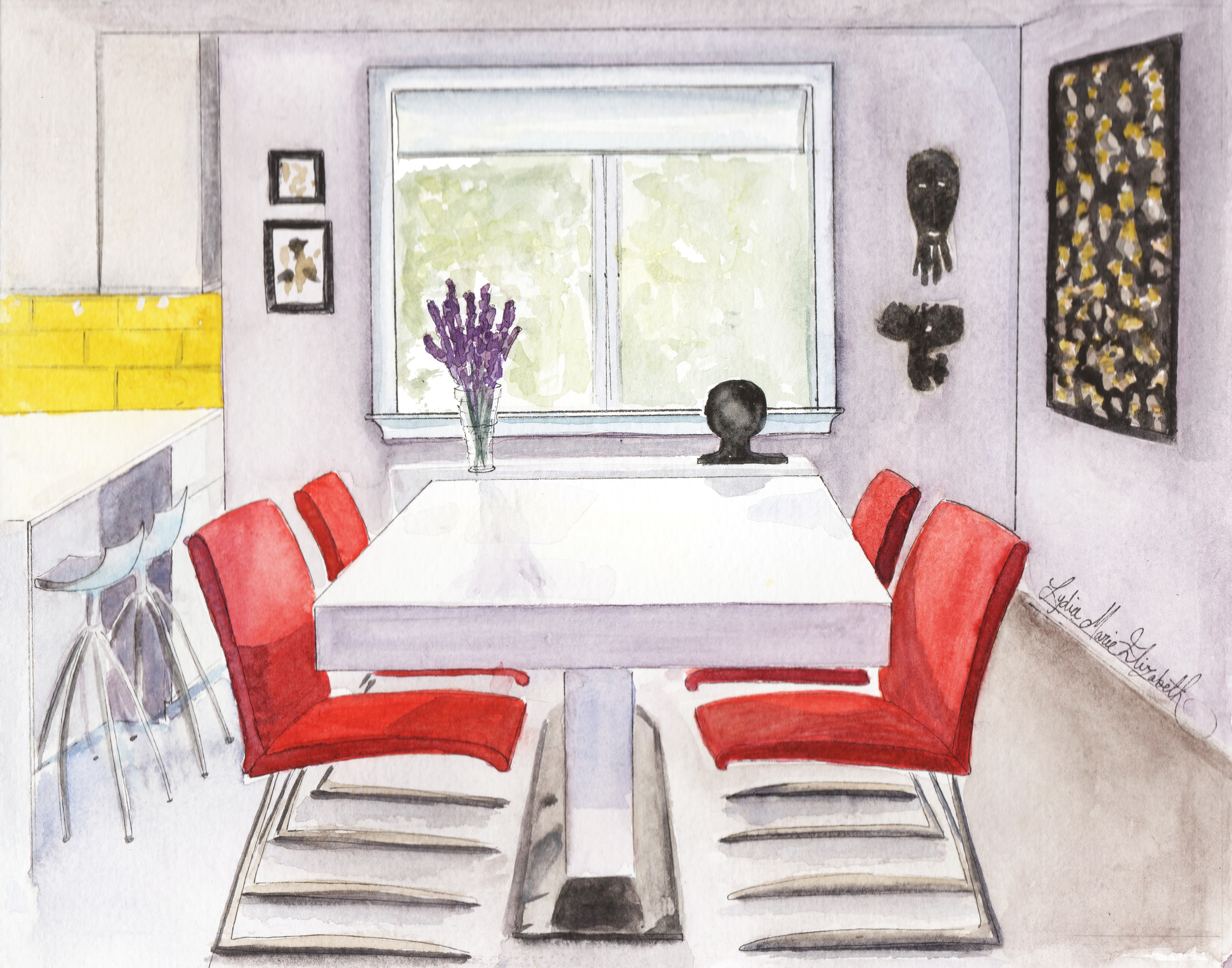 WPL Interior Design Illustrated by Lydia Marie Elizabeth