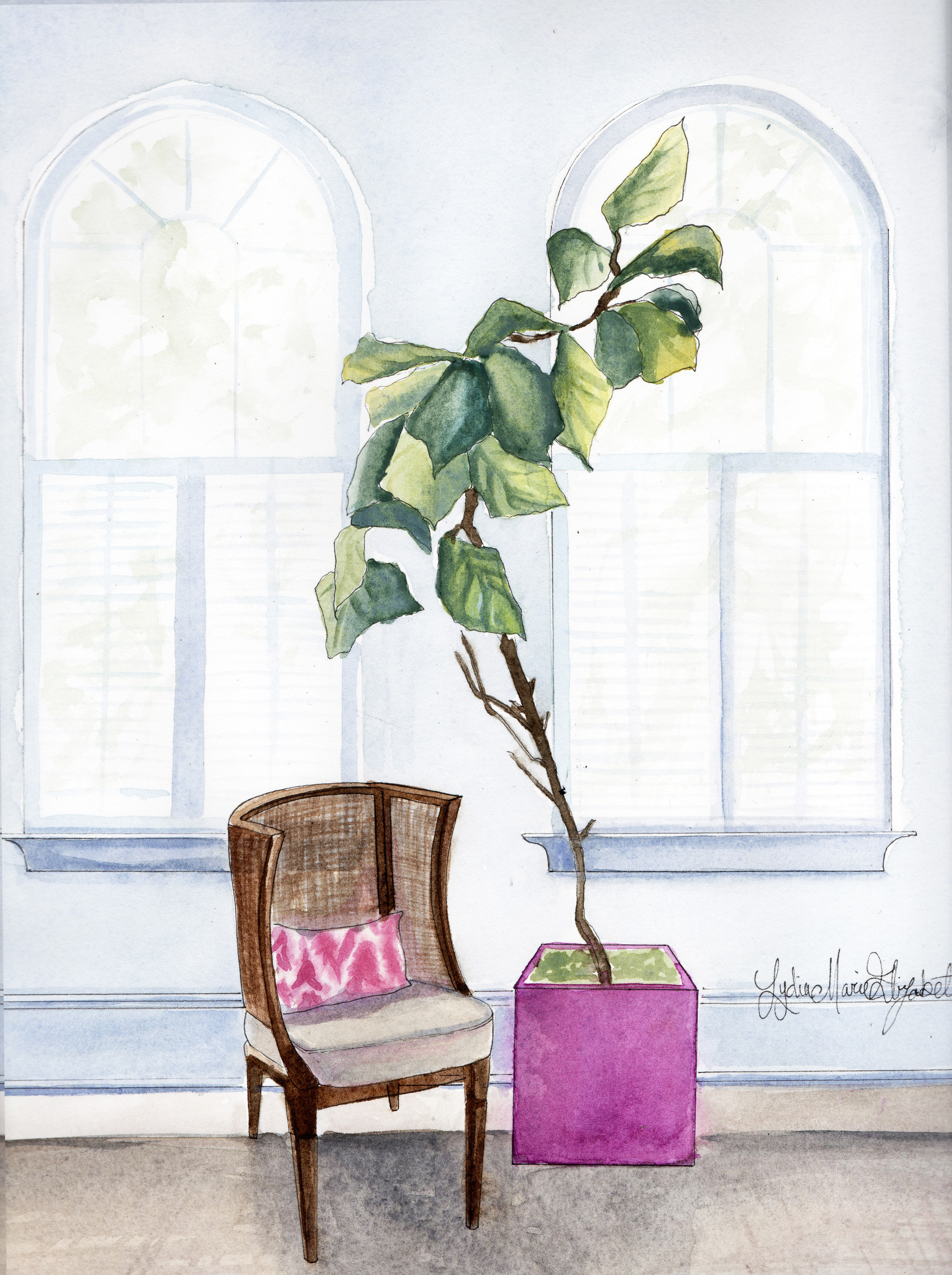 Mona Ross Berman Interior Design Illustrated by Lydia Marie Elizabeth