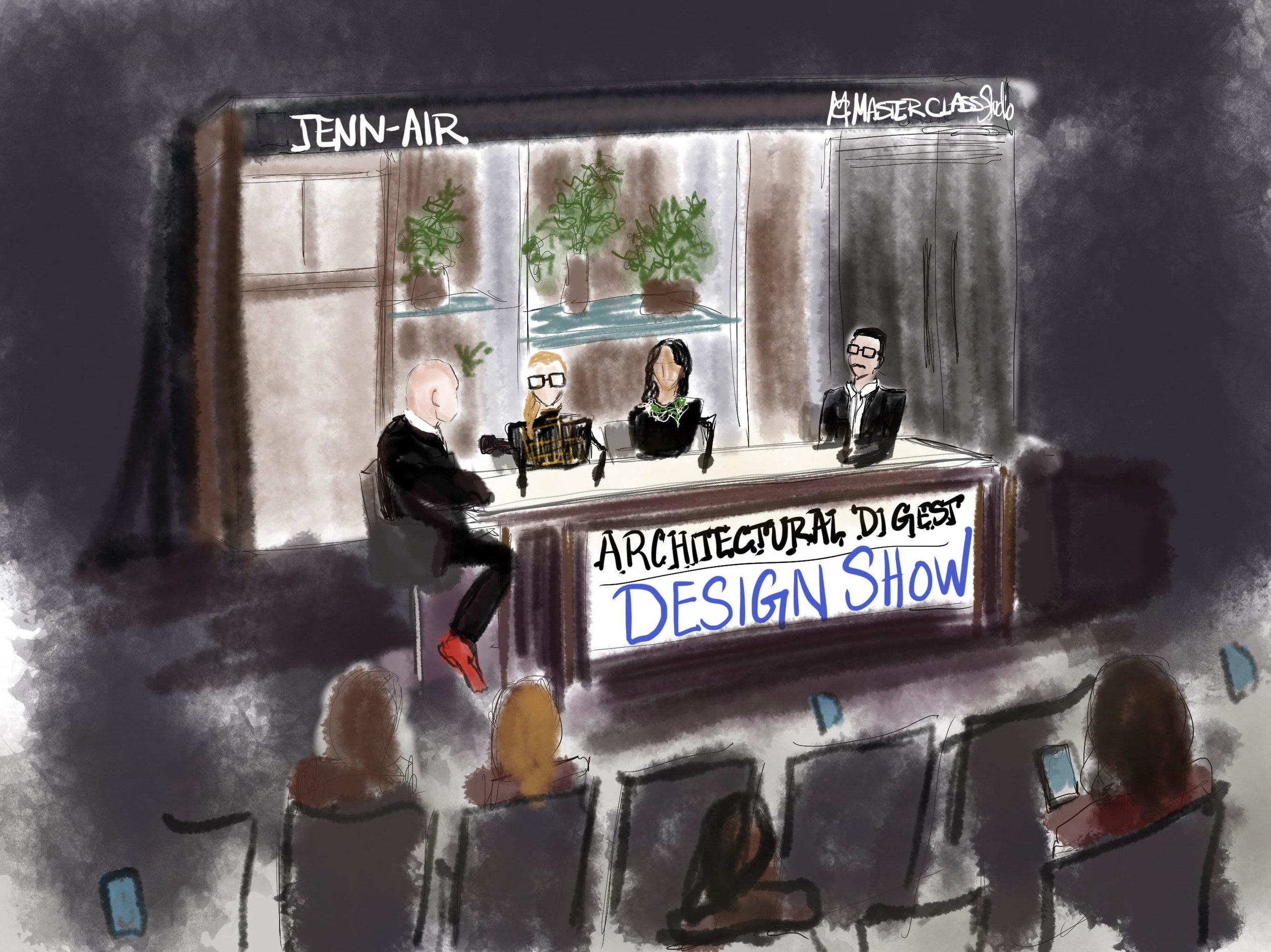 Lydia Marie Elizabeth Whos Afraid of the Contemporary Art Market Architectural Digest Design Show Panel Illustration at Jenn Air.jpg