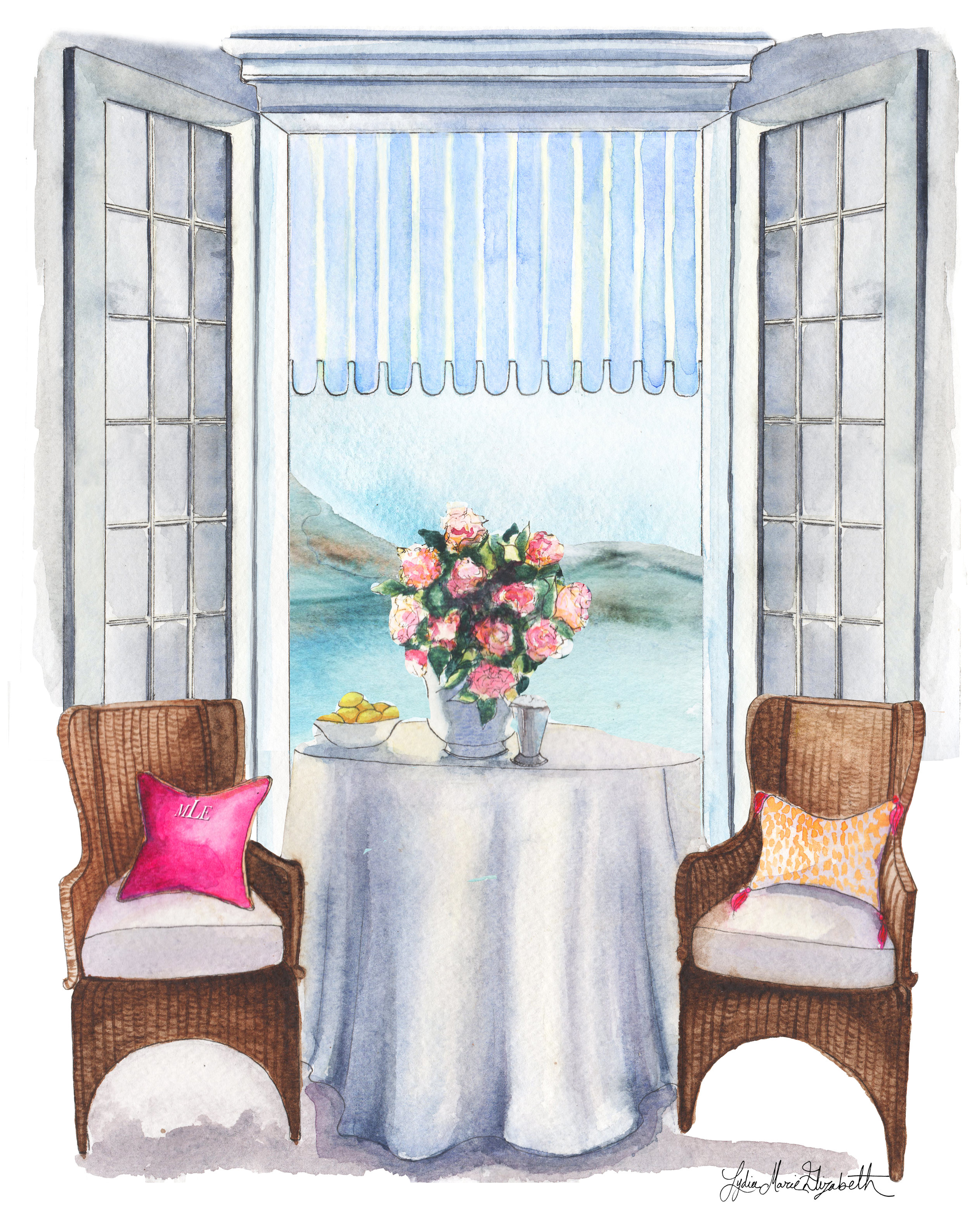 Lydia Marie Elizabeth, may calendar 2017, almafi coast interior illustration.jpg
