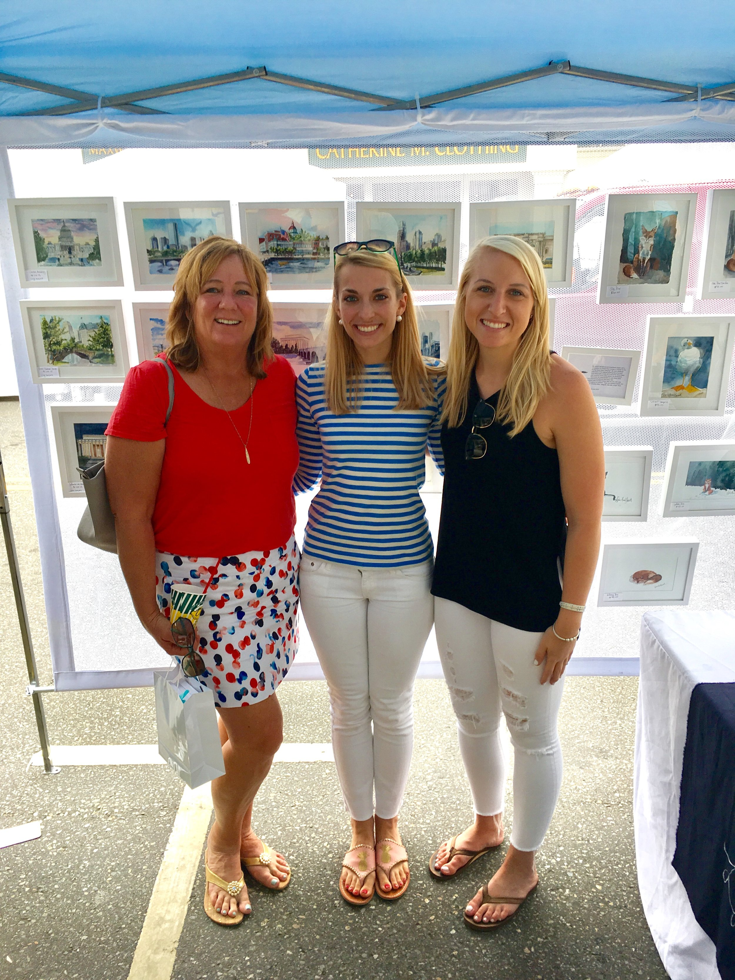 Lydia Marie Elizabeth and beloved Clients the Romanos at the Mystic utdoor Art Festival, 2017.jpg