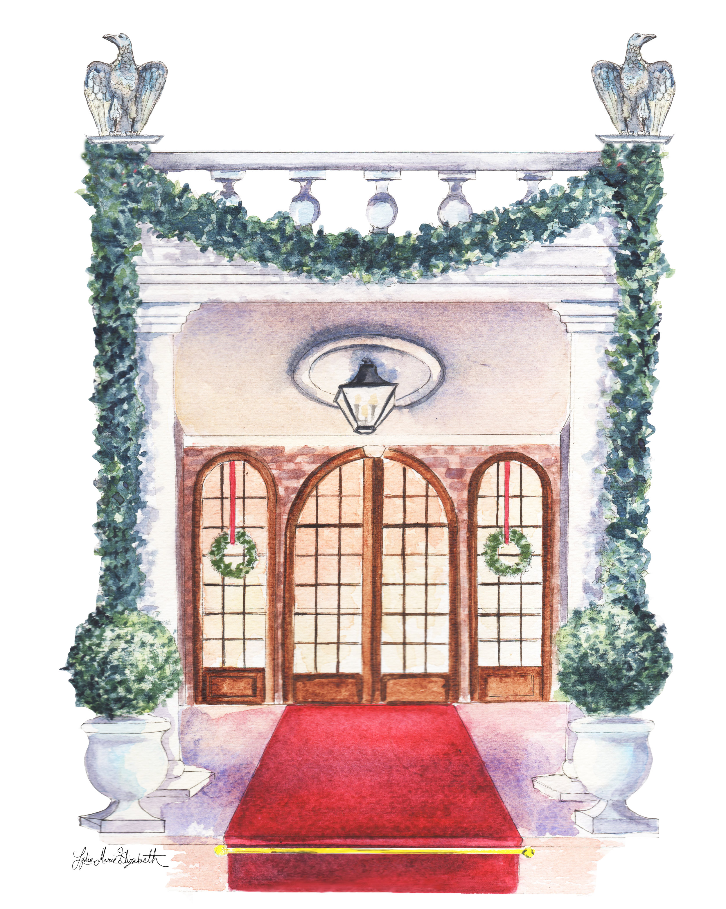 Lydia Marie Elizabeth December Christmas Architectural portrait for the 2017 interior and architectural calendar.jpg