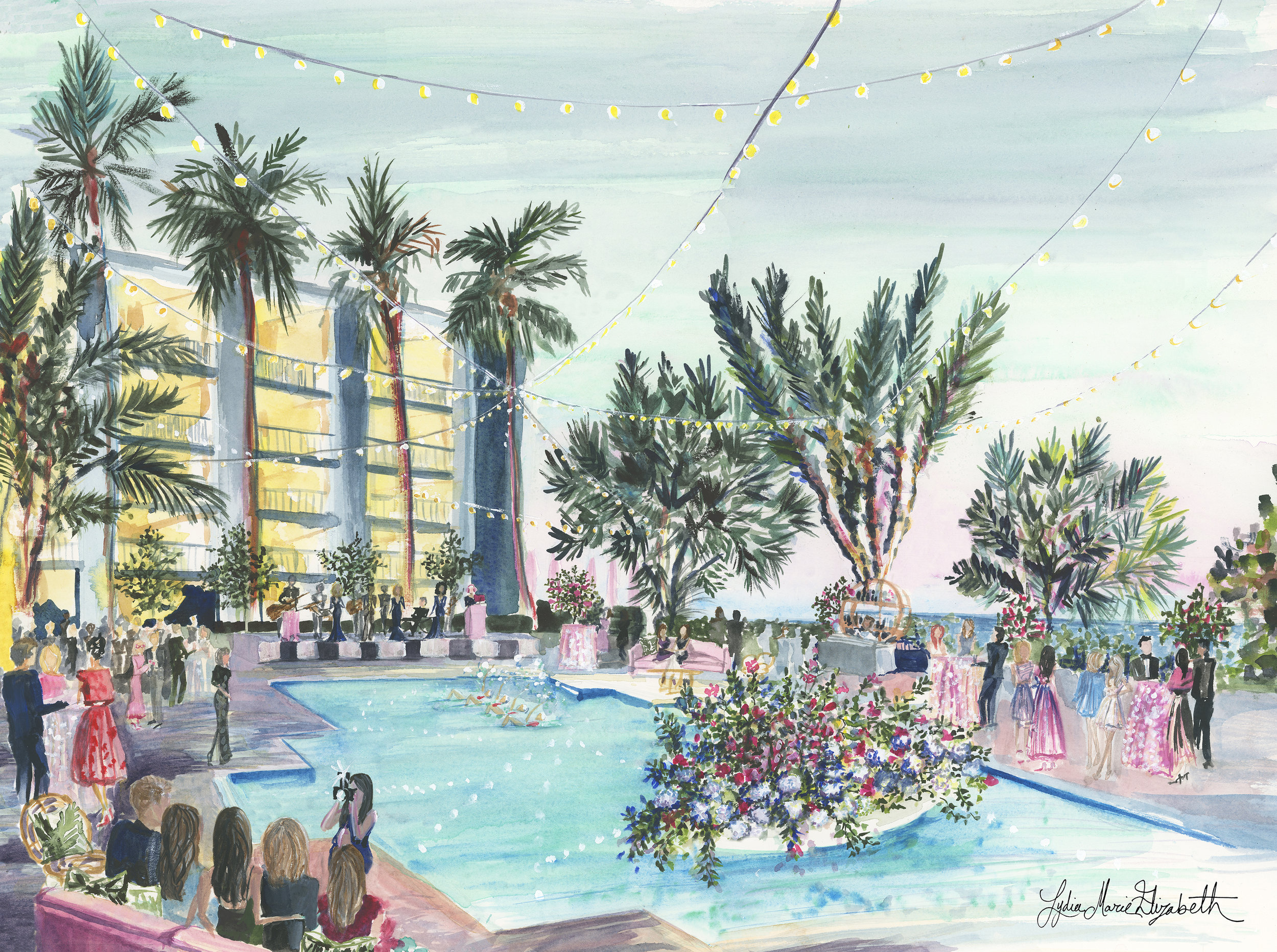 The Four Seasons Resort Palm Beach Live Painting