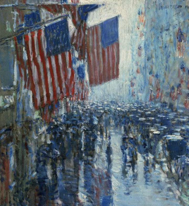 Lydia-marie-elizabeth-inspiration-for-painting-american-road-trip-desk-calendar-child-hassam-american-flags-painting