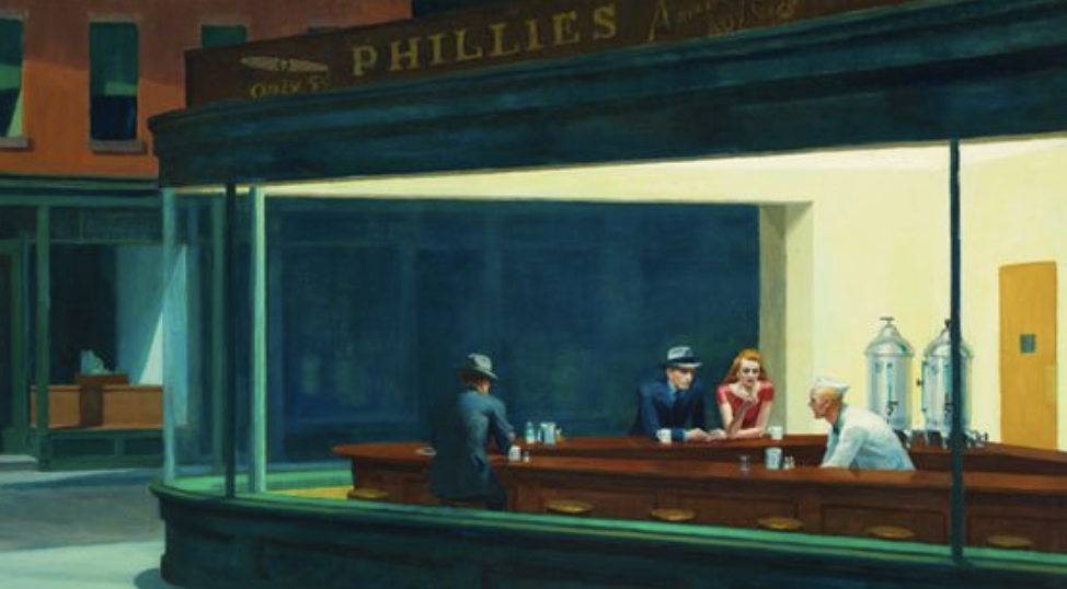 Lydia-marie-elizabeth-july-desk-calendar-painting-inspiration-nighthawks-by-edward-hopper