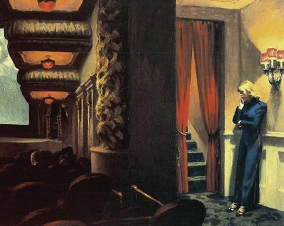 Lydia-marie-elizabeth-july-illustration-for-desk-calendar-image-inspiration-edward-hopper-movie-theatre