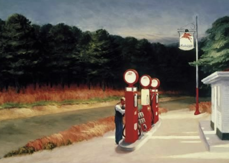 Lydia-marie-elizabeth-july-desk-calendar-inspiration-edward-hopper-gas-station
